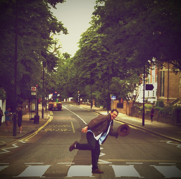 29 June 2012: Patrick crossing Abbey Road, the altered edition. :)