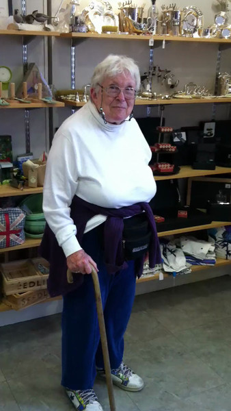 5 July 2012: Thelma did an impromptu jig at the gift shop in Scone Palace. :)<br /> <br /> (hint, this one's a video)