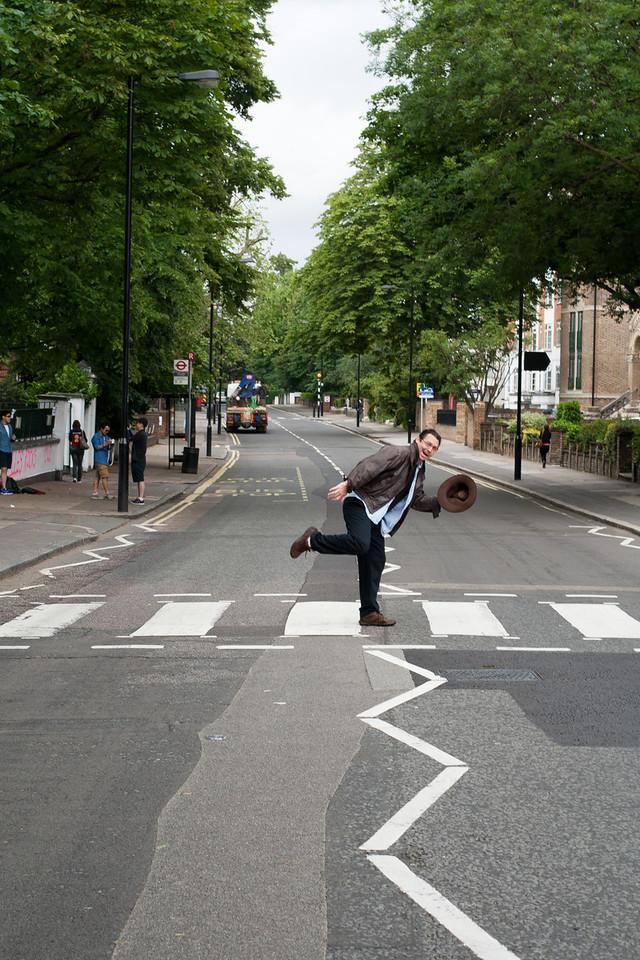 29 June 2012: Patrick crossing Abbey Road.