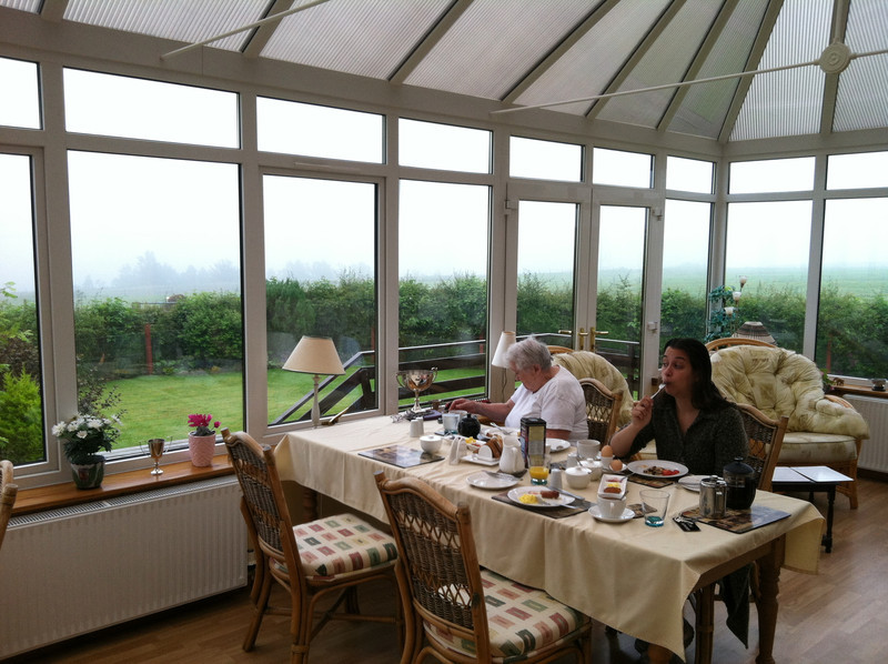 6 July 2012: Our breakfast room on the farm, not a minute away from Culloden Battlefield.