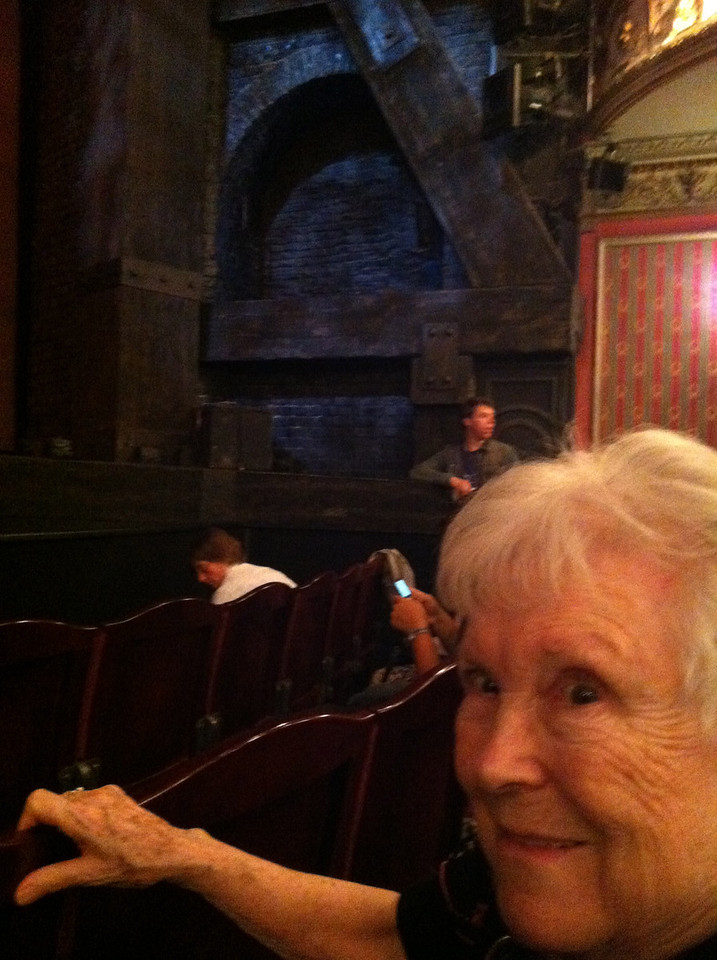 27 June 2012: We let Thelma pick the shows she wanted to see and this was high on the list.