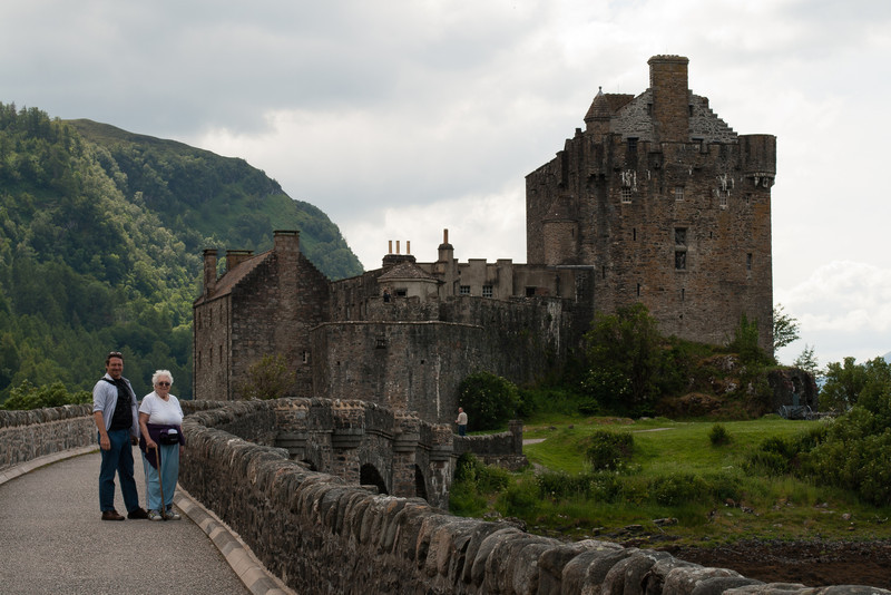 6 July 2012: Patrick and Thelma in front of Eliean Donan Castle.