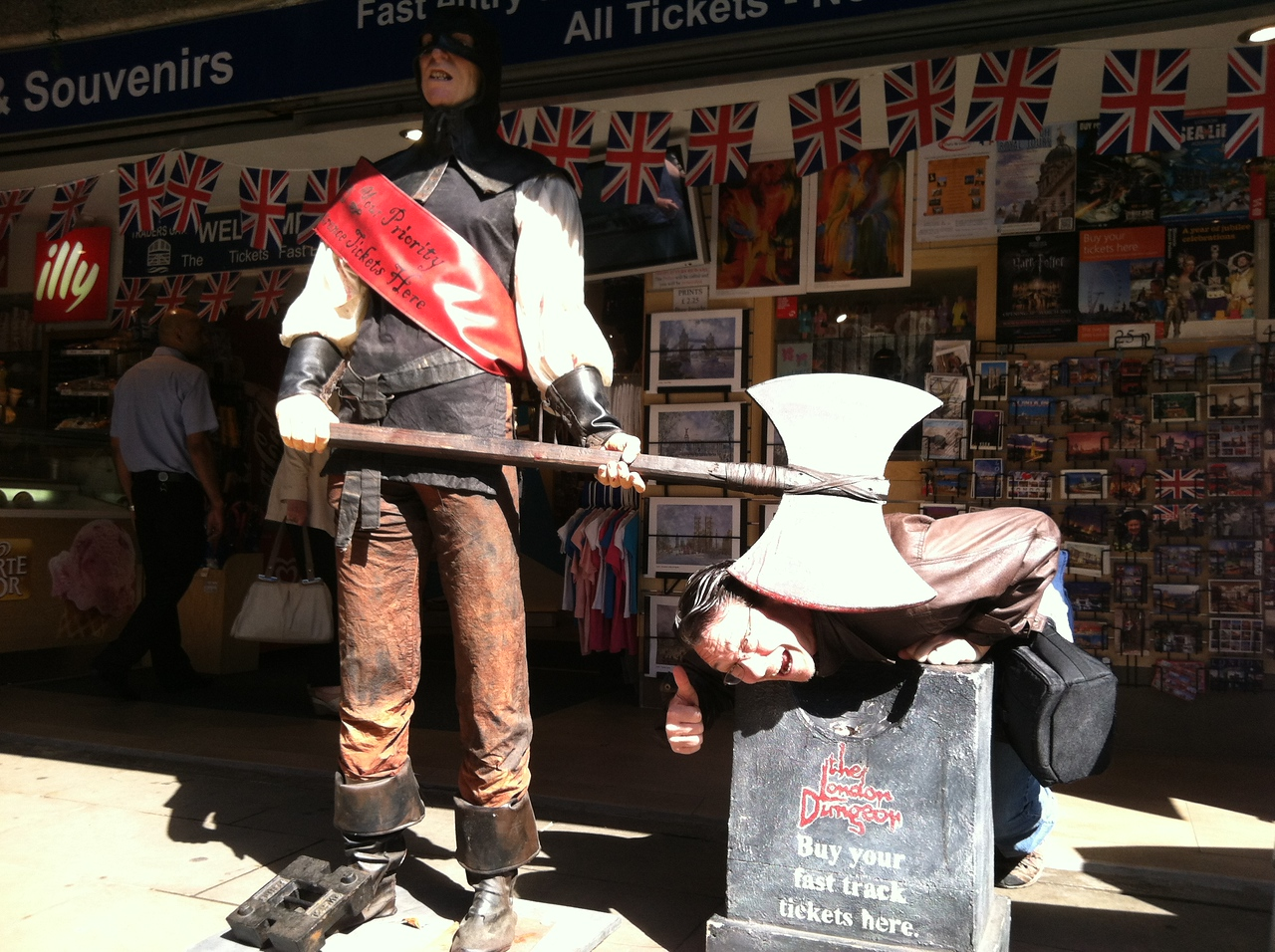 30 June 2012: Another touristy attraction shop, just across the way from the Tower of London.