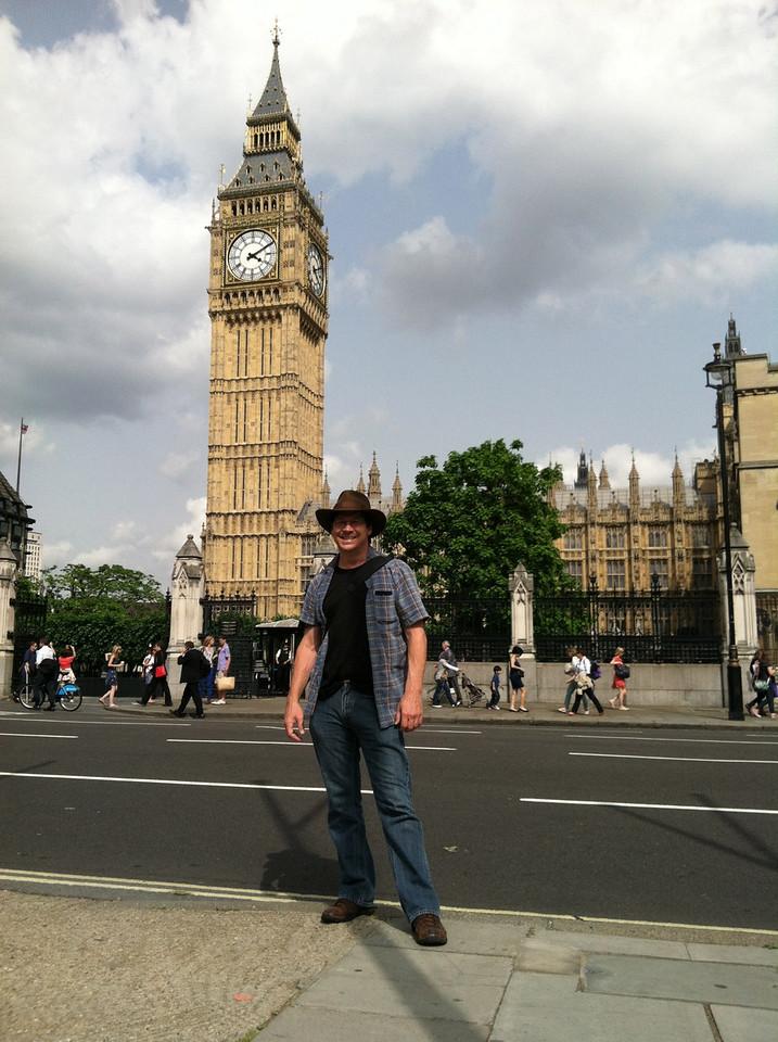 28 June 2012: Patrick and Big Ben.