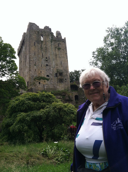 10 July 2012: Thelma's mother took a cruise to Europe many years ago and one of the places she stopped was Blarney Castle. It was on the list of Thelma's places to go, too.