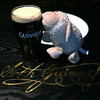 July 12, 2012: Even Will wanted a taste of a perfectly poured pint of Guinness.