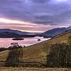 Winter sunset over Derwent Water & Bassenthwaite Lake
