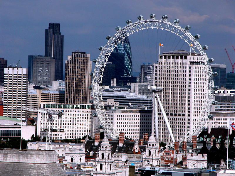 The Gherkin through London Eye