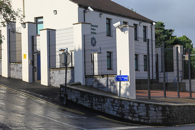 The fortified Cushendall police station is a legacy from the troubles