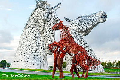Joey comes to meet the Kelpies to coincide with the 2019 transfer to Scotland. Local actors secure two roles.  bit.ly/2QSusKQ