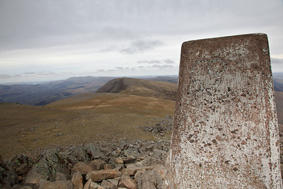 Summit trig-point Penygadair - 893 metres