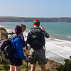 Jan and Giles reviewing the path with Libby
