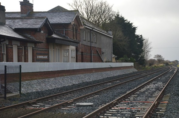 The former station at Bellarena. This closed during 2016 and was replaced by two new platforms on the south side of the level crossing and had a new passing loop installed. Fri 07.12.18