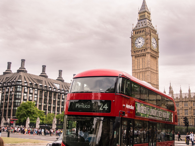 Big Ben and a Bus