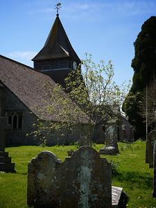 King's Somborne Church. Cinder spire.
