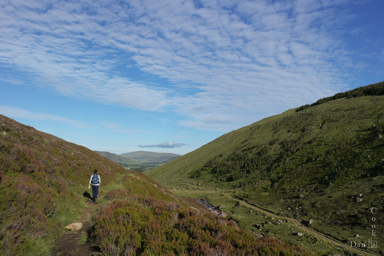 Hiking in the Spittal of Glenshee in North Scotland