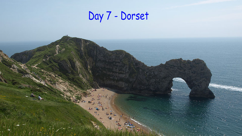Day 7 - Dorset<br /> Stayed at Manor Barn B&B<br /> This day included a visit to Milton Abbey, Durdle Door and The Swannery at Abbotsbury