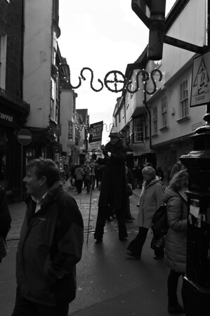 The Shambles, York during Christmas Shopping