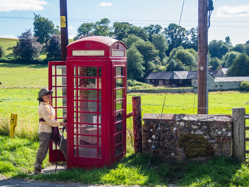 Rural Villages still have a telephone box
