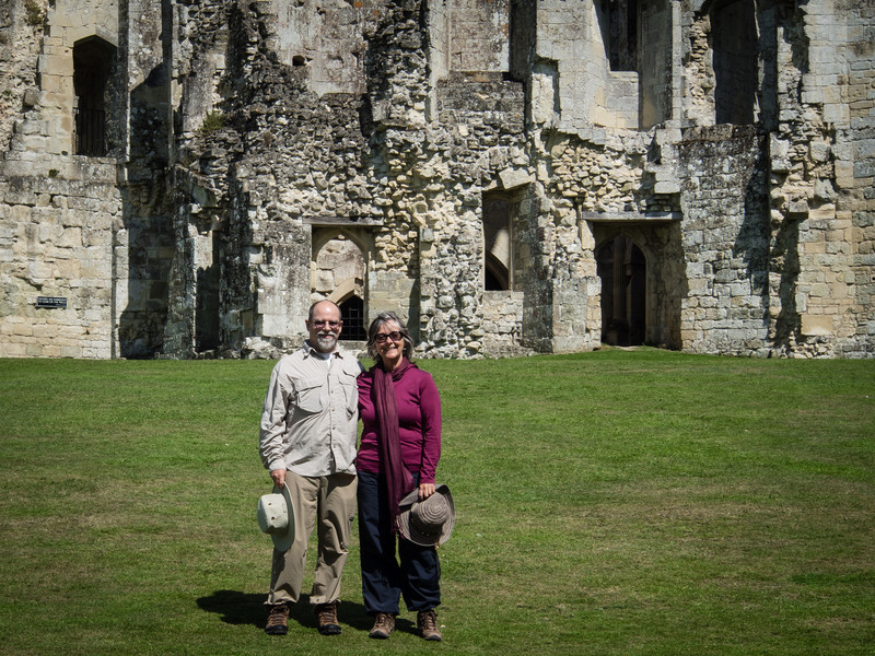 Mike and Lola at Old Wardour Castle