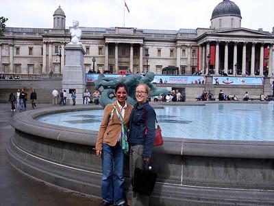 Kate and Steph in Trafalgar square