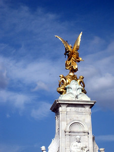 top of the Victoria memorial, outside Buckingham palace