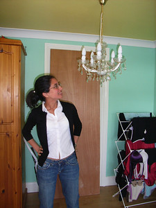 that is a lovely chandalier Carly - your house is all class, isn't it?