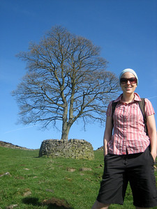 Steph at Sycamore Gap.