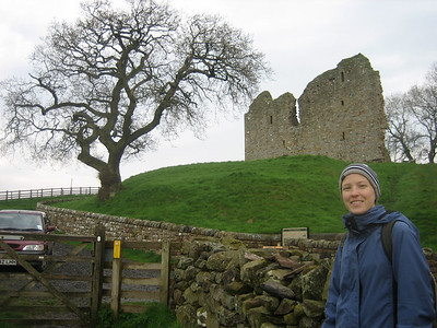View of Thirlwall castle ruins.