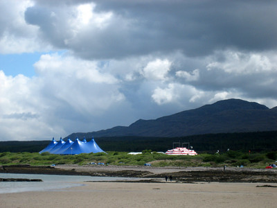 The Skye Music Festival marquees.