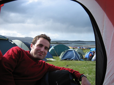 View from our tent at the Skye music festival