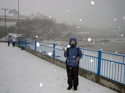It never snows in Newquay. Never, that is, unless *we're* there on holiday :)