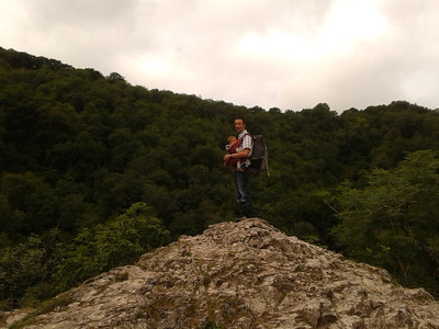 Tobs and James at Lovers' Leap, Dovedale