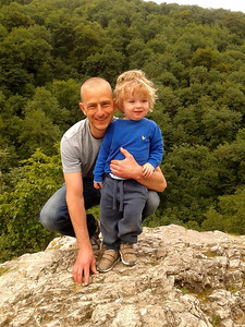 Marc and Jack at Lovers' Leap, Dovedale