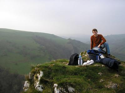 Matt above Thor's cave
