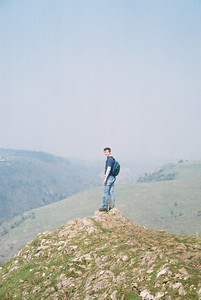 Matt likes living on the edge sometimes.