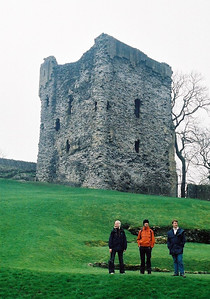 Kirsty, Tobias and Matt at Peveril Castle. It looks like we're the only people there, but that's thanks to Steph's good timing taking the photo.