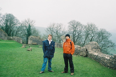 Matt and Tobias at Peveril castle.