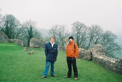 Matt and Tobias at Peveril castle.