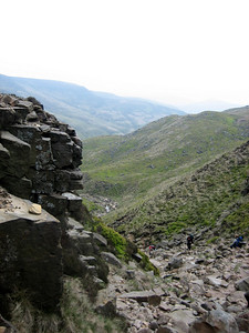 A view back down Grindsbrook Clough