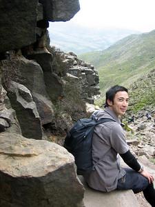 Tobs nestled among the rocks
