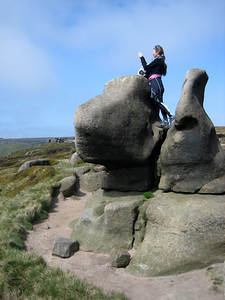 There were some cool rock formations on Kinder Scout