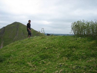 We climbed a Bunster hill next to Thorpe cloud. There wasn't really a path, but we met some friendly sheep who showed us the way