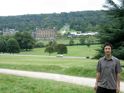 Chatsworth house in the background