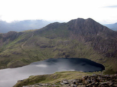 Lake beneath Snowdon, viewed from Crib Goch