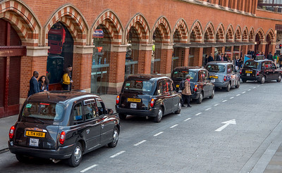Black Cabbies at the St Pancras International Train station