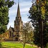 Batsford church in the fall