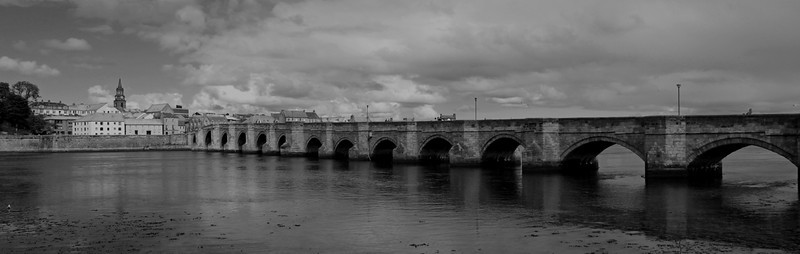Berwick Old Bridge b&w