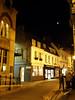 Crescent moon above Cambridge.