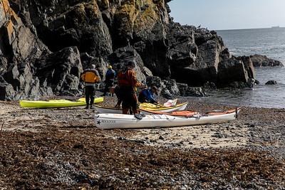 Kayakers Preparing To Set Out